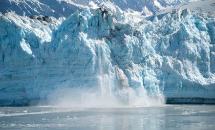 Glacier calving off Alaska