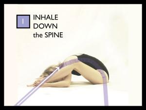 Parvati YEM Yoga as Energy Medicine Crab - Inhale