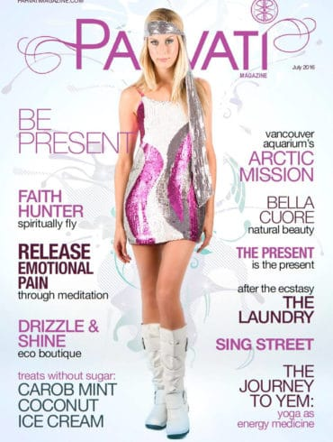 Parvati Magazine July 2016: Be Present - cover