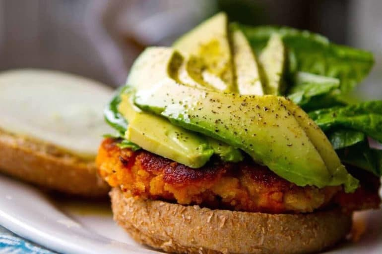 sweet potato burger, Kathy Patalsky, Happy Healthy Life, vegetarian re