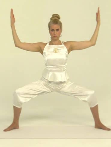 Deviasana, goddess pose, yem, yoga