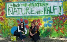 Prague, Lennon Wall, Nature Needs Half, WILD Foundation, environmental preservation, biodiversity and conservation,conservation of biodiversity