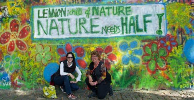 Prague, Lennon Wall, Nature Needs Half, WILD Foundation, environmental preservation, biodiversity and conservation,conservation of biodiversity