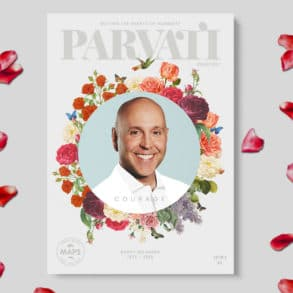 On this month's cover: Parvati Magazine April/May 2019: Courage - Darcy Belanger