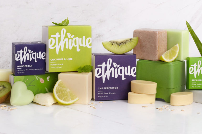 Ethique Beauty bars, shampoo bars