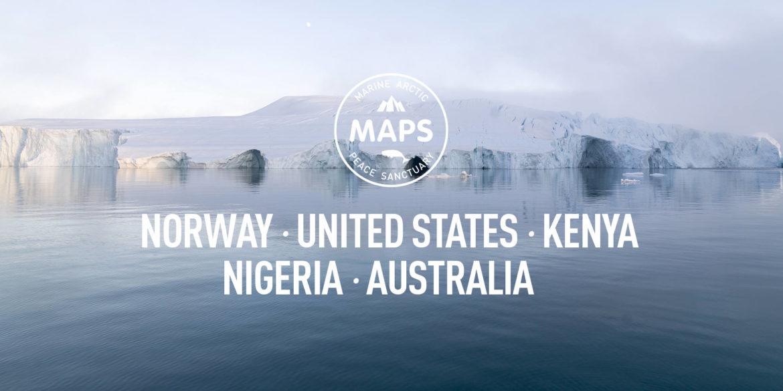 MAPS-Norway, USA,Kenya,Nigeria,Australia